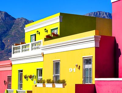 Colorful Houses, South Africa Download Jigsaw Puzzle