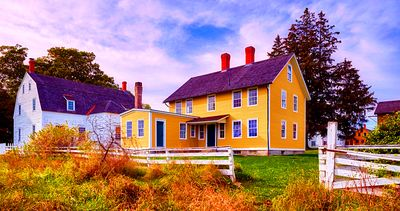 Canterbury Shaker Village, New Hampshire Download Jigsaw Puzzle