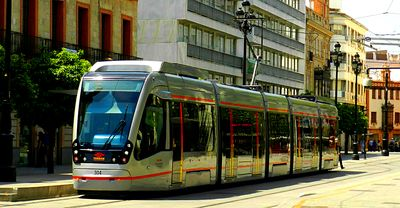 Tram, Seville Download Jigsaw Puzzle