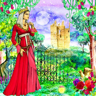 Princess Watercolor Download Jigsaw Puzzle