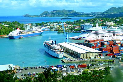 Harbor, St Lucia Download Jigsaw Puzzle